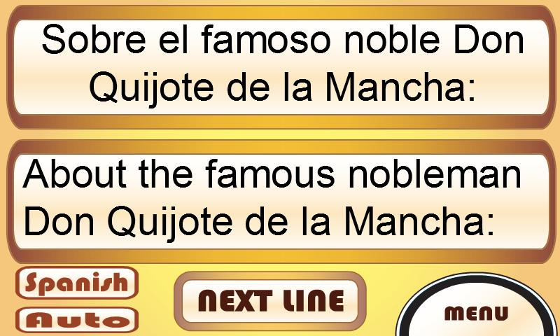 Learn Spanish with Don Quixote- screenshot