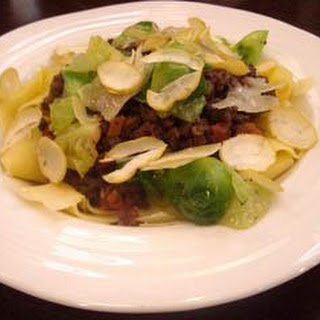 Venison Bolognaise With Chestnuts And Sprouts