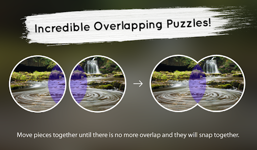 Venn Waterfalls: Circle Jigsaw- screenshot thumbnail