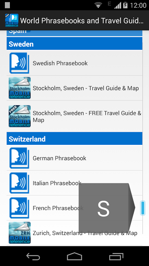 World Phrasebooks & Guides- screenshot