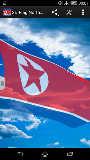 3D Flag North Korea LWP