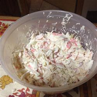 Imitation Crabmeat Salad.