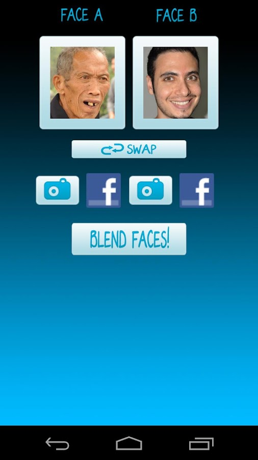 Face Blender Free - screenshot