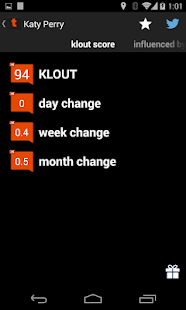 Tweet Klout - screenshot thumbnail