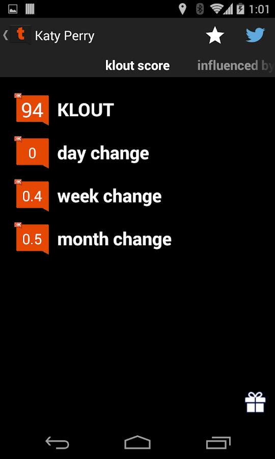 Tweet Klout - screenshot