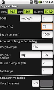 BS3 Drip Calculator screenshot 1