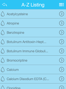ACEP Toxicology Antidote App- screenshot thumbnail
