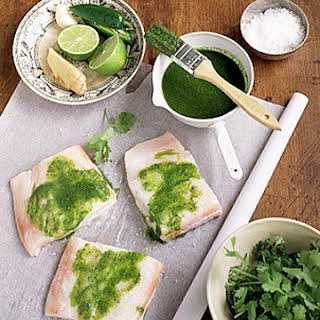 Cilantro-Ginger Halibut.