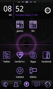 Purple Neon Go Launcher EX - screenshot thumbnail