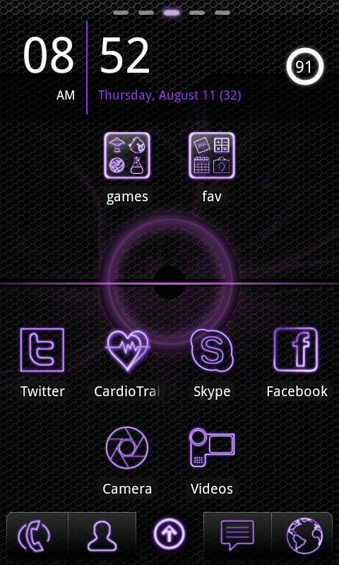 Purple Neon Go Launcher EX - screenshot