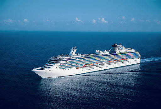 Coral-Princess-at-sea - Coral Princess specializes in cruises up and down the Pacific coast from Alaska to the Panama Canal. Some 90% of the staterooms offer guests ocean views, and there are 700 balconies available,