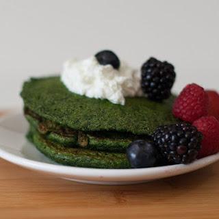 Savory Spirulina Spinach Pancakes