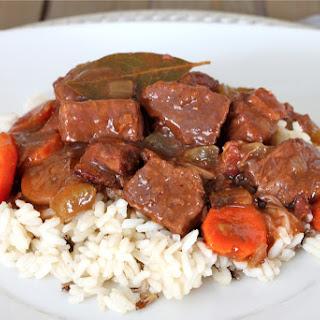Boeuf Bourguignon (French Beef Stew).
