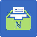 nfc card time tracker machine icon