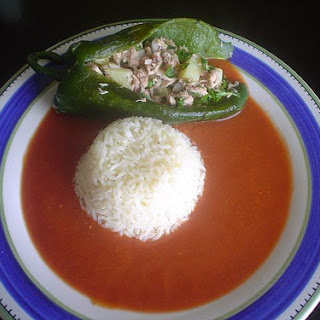 Tuna Filled Chile Peppers with Broth.