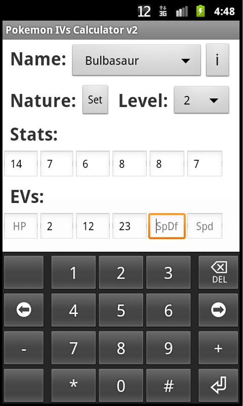 Pokemon IVs Calculator v2 - screenshot