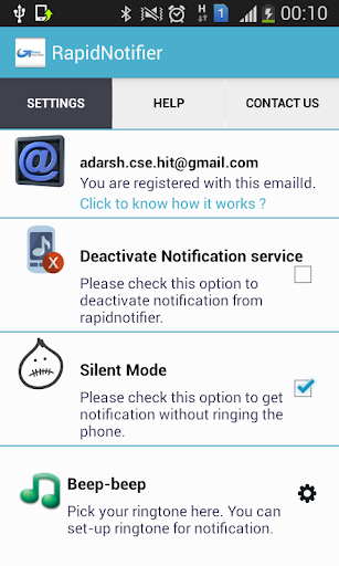 RapidNotifier -Get Notified