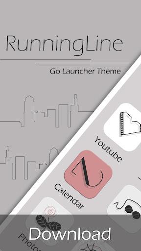 Running Line GO Launcher Theme
