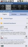 Screenshot of The HowardForums App