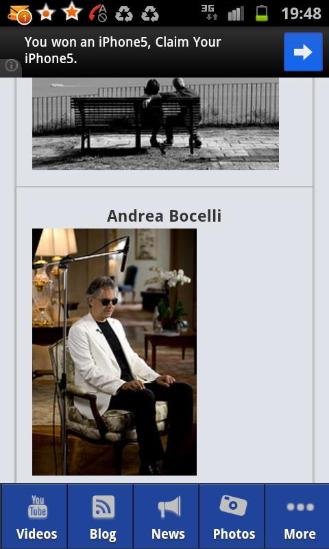 Andrea Bocelli - screenshot