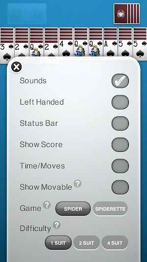 14 Spider Solitaire App screenshot
