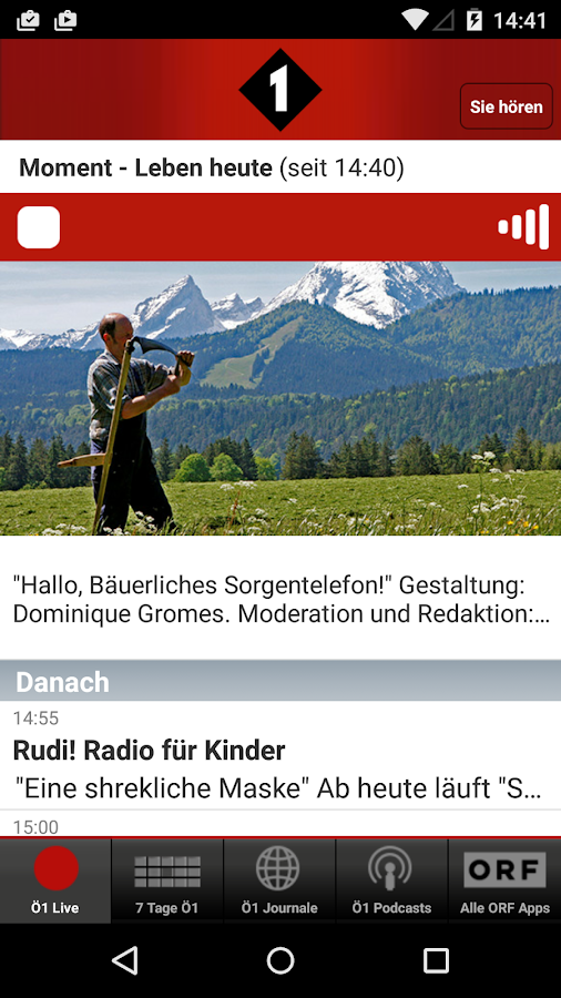 Radio Ö1- screenshot