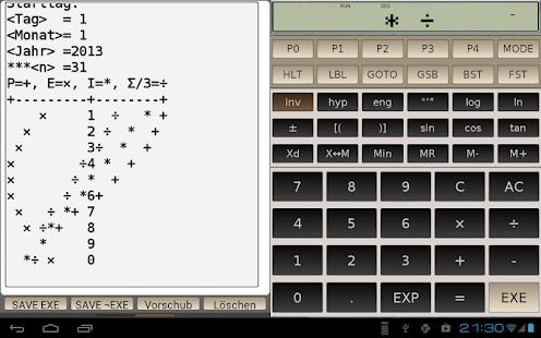 FX-602P scientific calculator - screenshot thumbnail