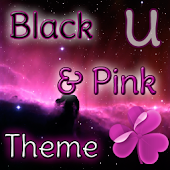 GO Launcher Theme Black & Pink