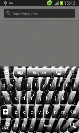 GO Keyboard Zebra Print Theme