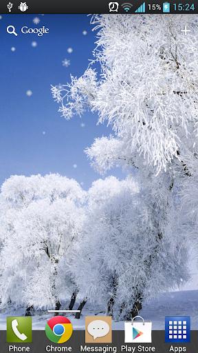 冬季降雪動態桌布