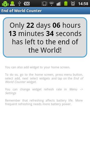 End of World Widget 2012