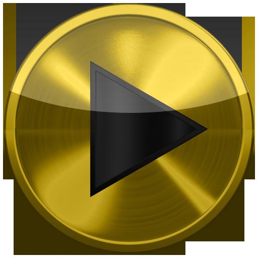Poweramp skin 黄色金属 音樂 App LOGO-APP試玩