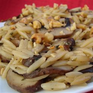 Orzo with Mushrooms and Walnuts