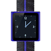 Blue Nano Wrist Watch Clock