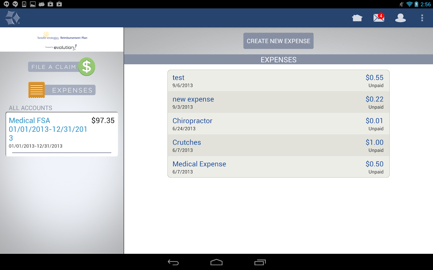 BenStrat Reimbursement Plan - screenshot
