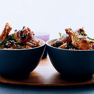 Sticky Sesame Chicken Wings.