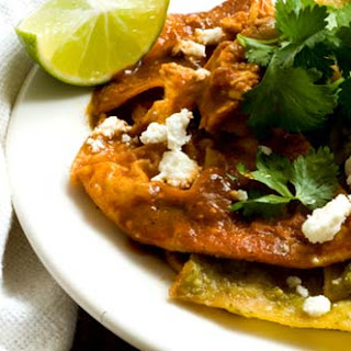 Chilaquiles With Ancho-tomatillo Salsa