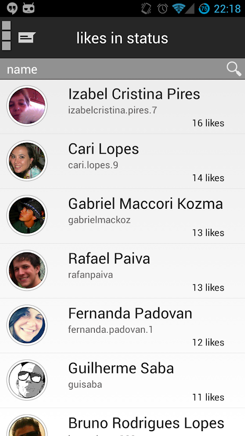 Facewatcher-Stalk for Facebook - screenshot