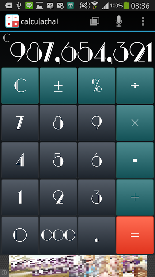 calculacha! (Calculator)- screenshot