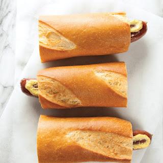 Hot Dog on a Baguette