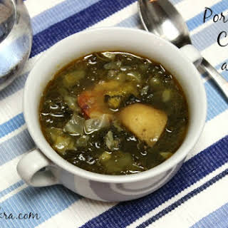 Portuguese Chourico and Kale Soup.