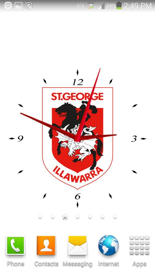 St.George Dragons Analog Clock- screenshot