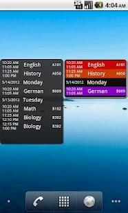 My Class Schedule (gratuit) Capture d'écran