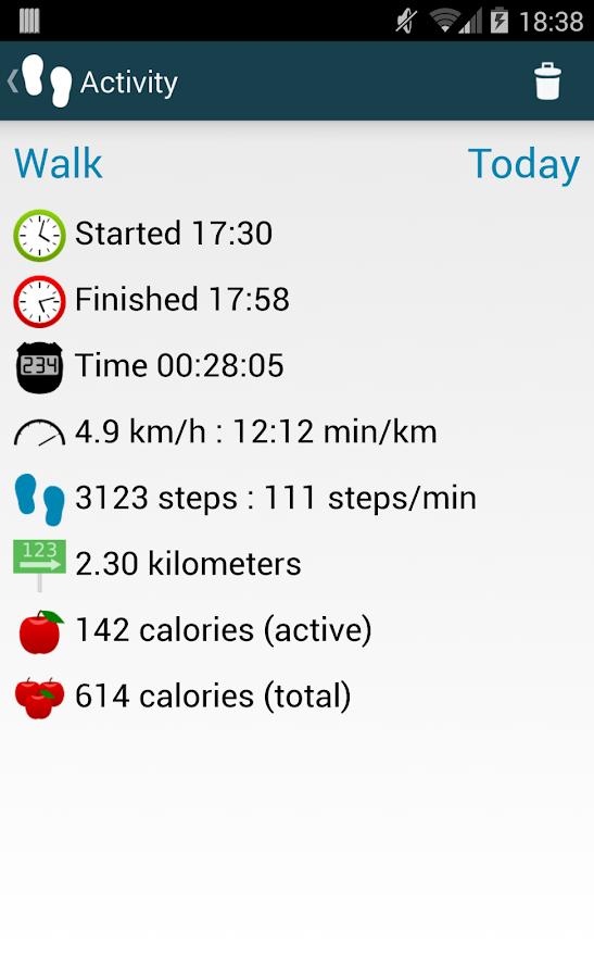 WalkLogger skridttæller – Android-apps på Google Play
