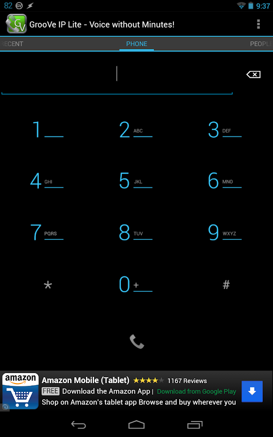 GrooVe IP Lite Free Calls Text - screenshot