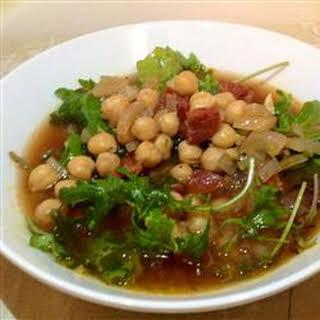 Easy Chourico Soup.