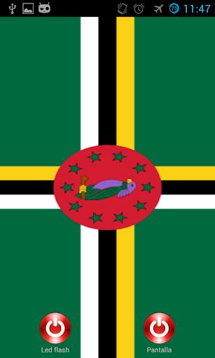 Lantern flash screen Dominica