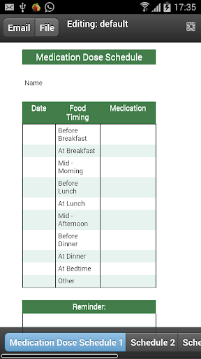 Medical Dose Schedule