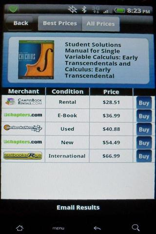 Cheap-Textbooks Price Search- screenshot