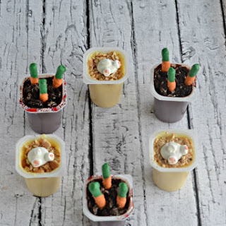 Easter Snack Pack Pudding Cups.